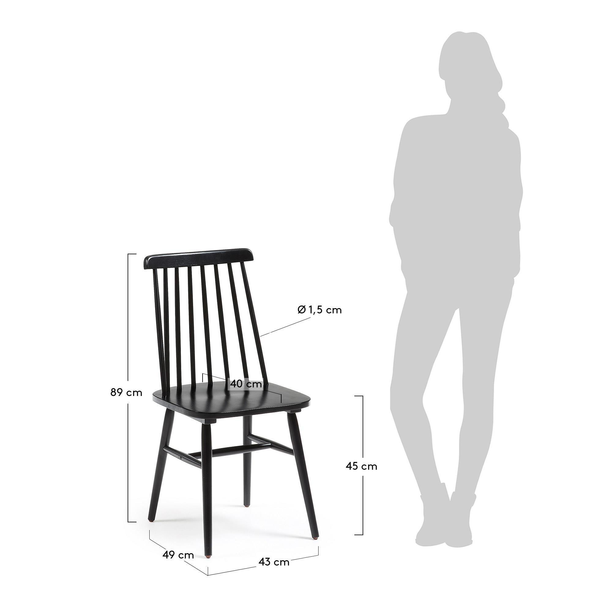 LaForma :: Drewniane krzesło Kristie czarne