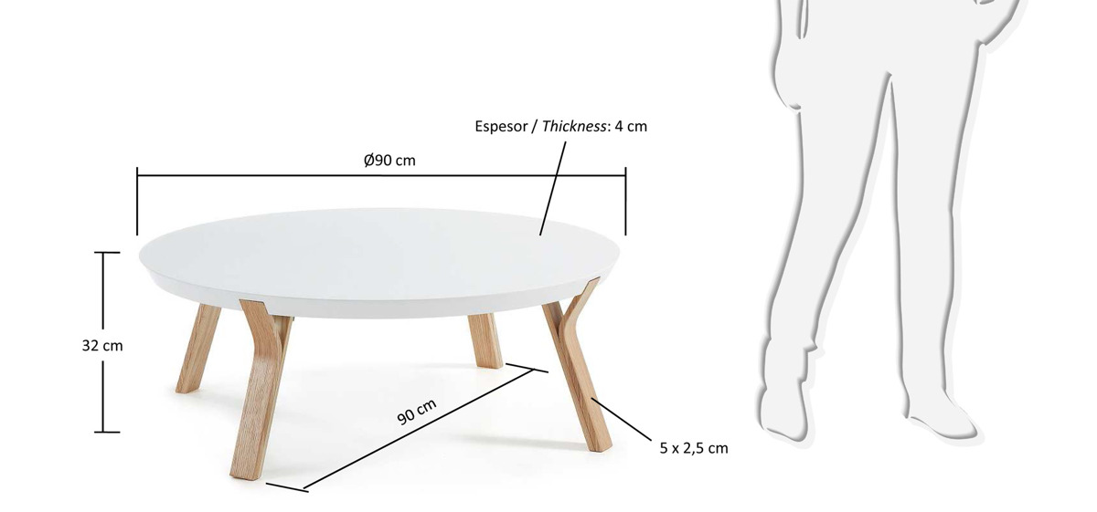 Laforma Stolik Kawowy Solid Biały W Cenie 1 53900 Zł