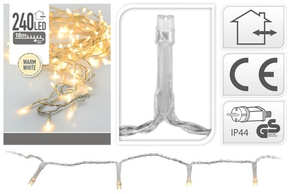 Invicta Interior :: Lampki choinkowe 240 LED - warm white